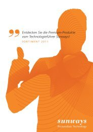 ''Entdecken Sie die Premium-Produkte vom ... - Sunways AG