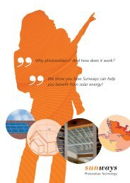 Why photovoltaics? And how does it work? We show ... - Sunways AG