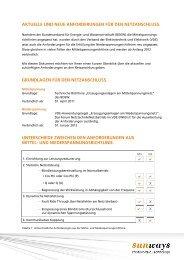 aktuelle und neue anforderungen für den ... - Sunways AG