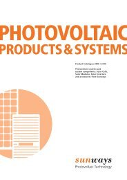 PRODUCTS&SYSTEMS; - Sunways AG