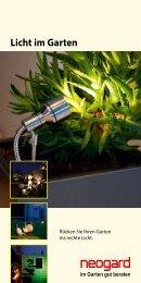 Licht im Garten - Neogard AG