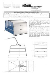 Montageanleitung Velounterstand Velo-Box