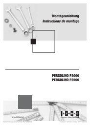 PERGOLINO P3000 PERGOLINO P3500 Montageanleitung ...