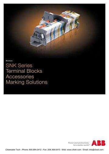 ABB SNK Series Screw Clamp Terminal Blocks
