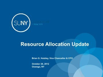 Resource Allocation Tool - The State University of New York