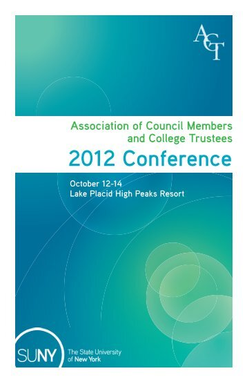 ACT - 2012 Conference Program - State University of New York