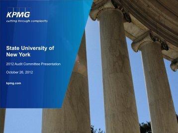 KPMG Talkbook template - State University of New York