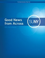 2012 Year in Review - The State University of New York