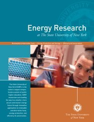 Energy Research Brochure - The State University of New York
