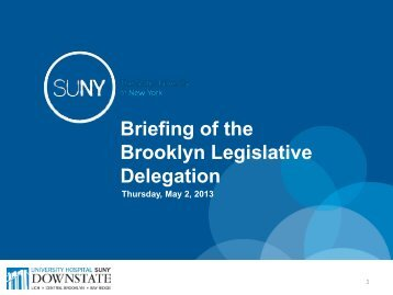 Briefing of the Brooklyn Legislative Delegation - The State University ...