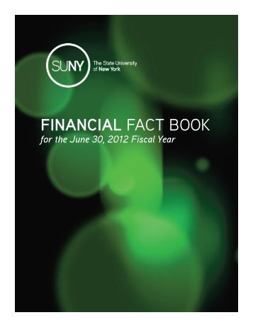 FINANCIAL FACT BOOK - The State University of New York