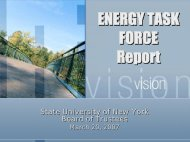 ENERGY TASK FORCE Report - State University of New York
