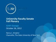 Chancellor Zimpher's Presentation - How I Spent My Summer Vacation