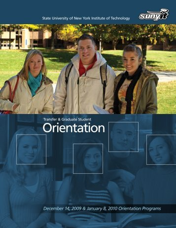 Orientation - SUNY Institute of Technology
