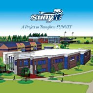 A Project to Transform SUNYIT - SUNY Institute of Technology