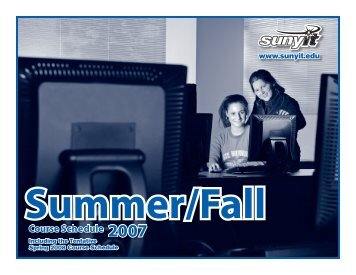 Summer/Fall 07.indd - SUNY Institute of Technology