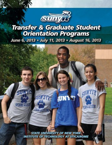 Transfer & Graduate Student Orientation Programs - SUNY Institute ...
