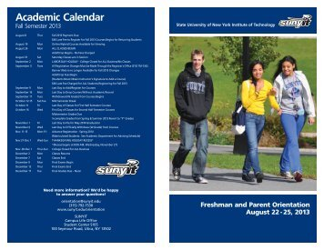 Orientation booklet - SUNY Institute of Technology