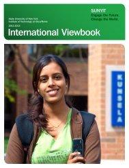 International Viewbook - SUNY Institute of Technology