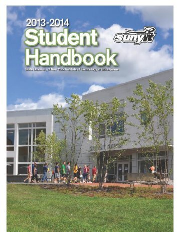 Student Handbook - SUNY Institute of Technology