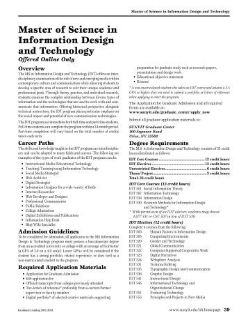 Master of Science in Information Design and Technology