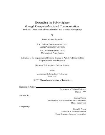 Expanding the Public Sphere through Computer ... - ResearchGate