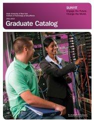 Graduate Catalog 2011-2013 - SUNY Institute of Technology