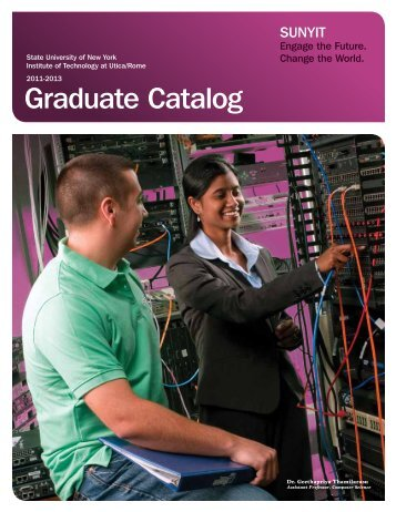 Graduate Catalog 2011-2013 - SUNY Institute of Technology