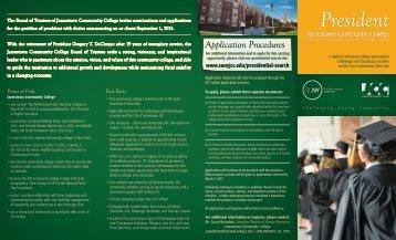 search brochure - Jamestown Community College