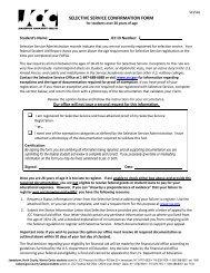 selective service confirmation form - Jamestown Community College