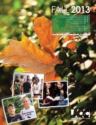 Fall 2013 Master Schedule - Jamestown Community College