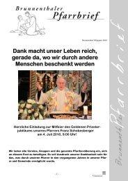 Brunnenthaler Pfarrbrief - Diözese Linz