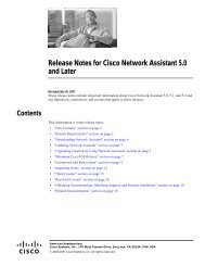 Release Notes for Cisco Network Assistant 5.0 and Later