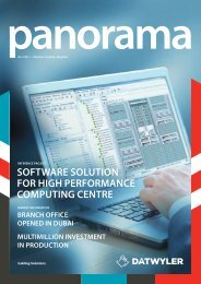 SoftwaRe Solution FoR High PeRfoRmance ComPuting ... - Dätwyler