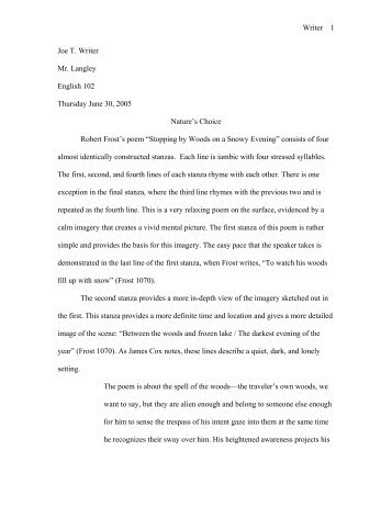 eng 102 poetry essay example