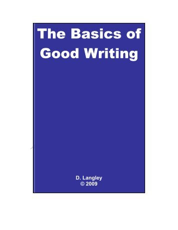 The Basics of Good Writing - SUNY Rockland Community College