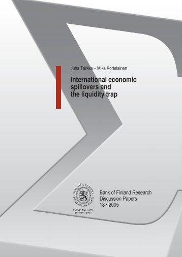 International economic spillovers and the liquidity ... - Suomen Pankki