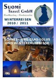 WINTERREISEN 2010 / 2011 SCHNEE– UND GLAS ... - Suomi Travel