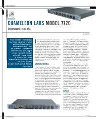 CHAMELEON LABS MODEL 7720 - Suoni e strumenti