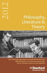 Philosophy, Literature & Theory - Stanford University Press