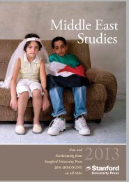 Middle East Studies - Stanford University Press