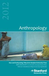 Anthropology - Stanford University Press