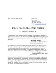 ISLAM IN A GLOBALIZING WORLD - Stanford University Press