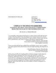 CHINA'S TECHNO-WARRIORS: - Stanford University Press