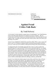 Against Freud Critics Talk Back - Stanford University Press