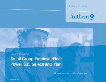 Small Group employeeelect power $35 SelectHmo plan - SuperAgent