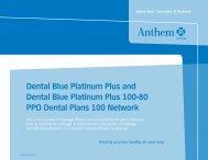 Dental Blue Platinum Plus and Dental Blue Platinum ... - SuperAgent