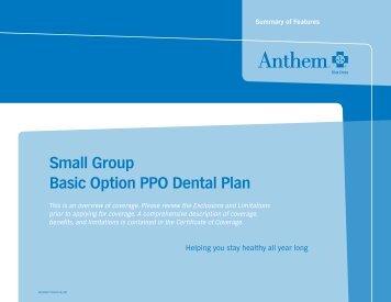 Small Group Basic Option PPO Dental Plan - Anthem