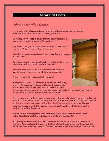 Folding accordion doors