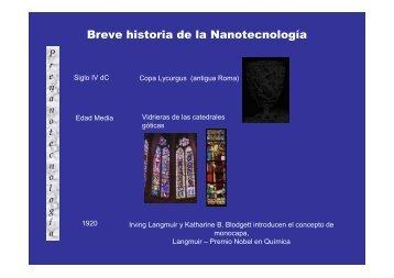 Breve historia de la Nanotecnología